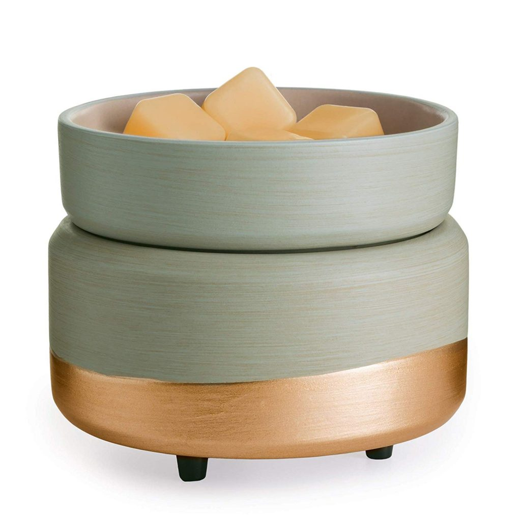 Candle Warmers Etc Ceramic 2-in-1 Classic Fragrance Wax Warmer - Midas