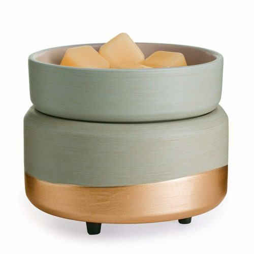 Candle Warmers Etc Ceramic 2-in-1 Classic Fragrance Wax Warmer - Midas