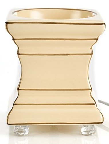 Gold Canyon Footed Square Scent Pod Warmer - Ecru