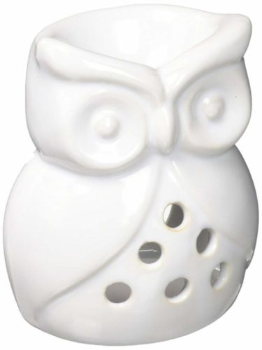 White Ceramic Owl Wax And Oil Warmer