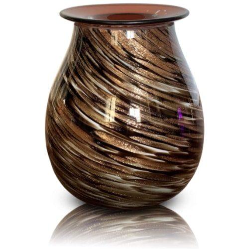 Heung Hoi Electric Art Glass Wax Warmer - Black Gold