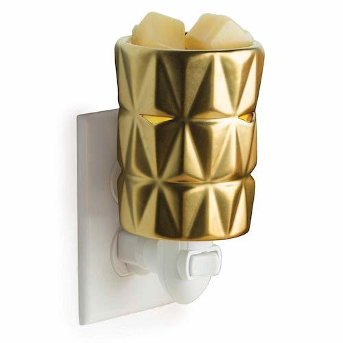 Candle Warmers Etc Pluggable Fragrance Wax Warmer - Gold Facets