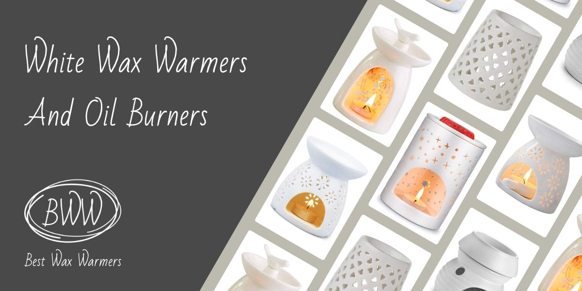White Scented Wax Warmers and Oil Burners